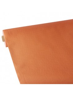 Mantel papel aspecto tela naranja Soft Selection Plus 25 x 1,18 m
