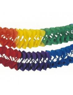 Guirnalda de papel colores grandes espacios Ø 25 cm x 10 m Rainbow