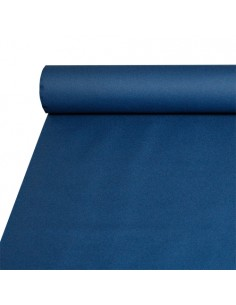 Mantel hostelería papel aspecto tela Airlaid color azul 20 x 1,2 m
