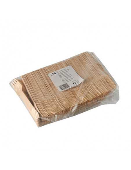 Tenedores de madera económicos compostables 16,5 cm