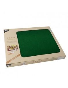 100 Mantelitos Individuales Royal Collection Color Verde Oscuro 30 x 40cm