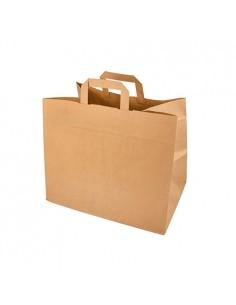 Bolsas con asa papel Kraft marrón 27 x 32 x 17cm