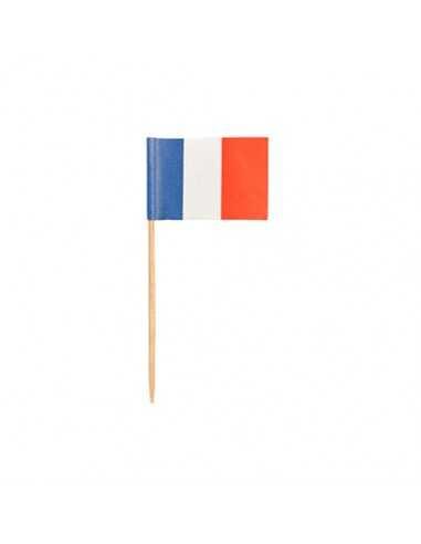Palillos bandera francesa decorativos 8cm
