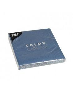 20 Servilletas de Papel Tisú Color Azul Oscuro 33 x 33 cm
