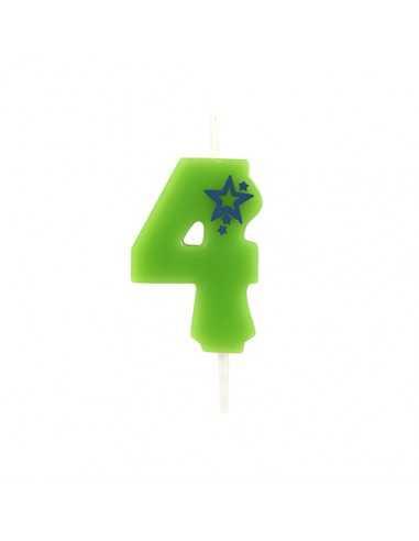 15 Velas Cumpleaños Número 4 Mini...