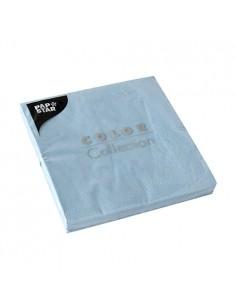 20 Servilletas de Papel Tisú Color Azul Claro 33x33 cm Papstar 87404