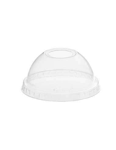 Tapas vaso cúpula plástico con agujero transparente hurricane Ø 7,8 cm