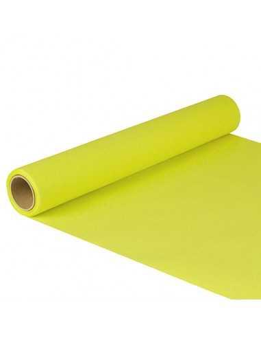 Camino de mesa papel color verde lima 5 m x 40 cm Royal Collection