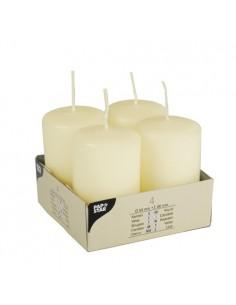Velas de taco crema Ivory decorativas Ø 50 x 80mm
