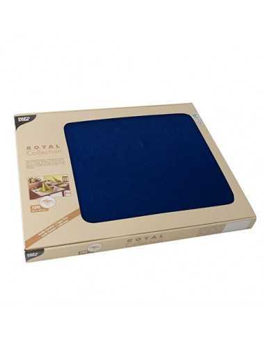 Mantelitos individuales papel azul oscuro 30 x 40 cm Royal Collection