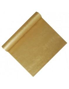 Camino de mesa papel dorado aspecto tela resistente al agua Soft Selection 12 m x 40 cm