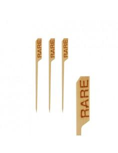 Brochetas de madera marcadoras punto carnes 9 cm Rare