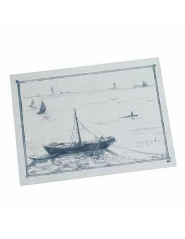 Mantelitos individuales de papel económicos hostelería decoración marinera 30 x 40 cm