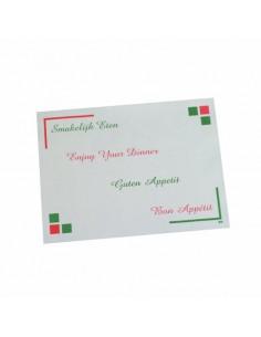 Mantelitos individuales de papel económicos hostelería Bon Appetit 30 x 40 cm