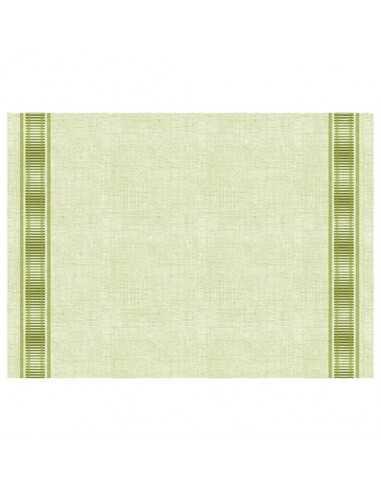 Mantelitos individuales papel aspecto tela color verde Gourmet 30 x 40 cm Soft Selection Plus
