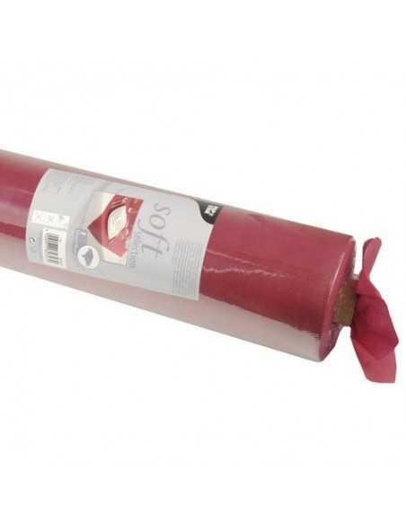Mantel papel aspecto tela color burdeos rollo 40 x 1,18 m Soft Selection