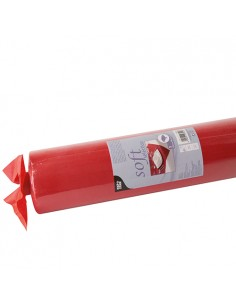 Mantel Aspecto Tela Tejido sin Tejer Color Rojo Soft Selection 25 x1,18 m