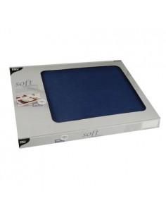 Mantelitos individuales papel aspecto tela azul oscuro 30 x 40 cm Soft Selection