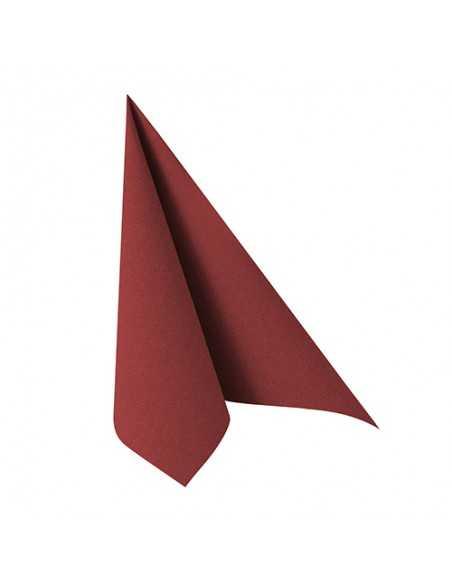 Servilletas papel color burdeos 33 x 33 cm Royal Collection