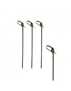 250 Brochetas de Bambú Color Negro de 10cm Modelo Knot
