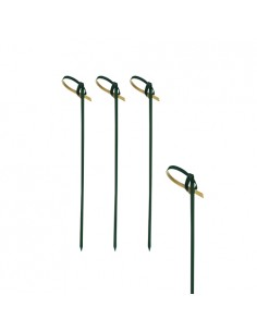 Palillos brocheta madera bambú color negro con lazo 10 cm Knot