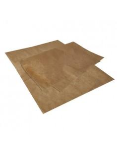 Hojas papel envolver antigrasa color marrón kraft 35 x 25cm