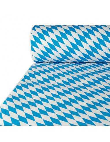 Mantel papel decorado baviera azul con gofrado damasco 50 x 1m