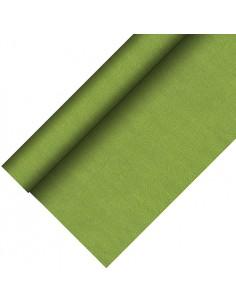 Mantel papel aspecto tela color verde oliva Royal Collection Plus 20 x 1,18 m