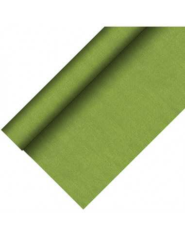 Mantel papel aspecto tela color verde oliva Royal Collection Plus 20 x 1,18 m