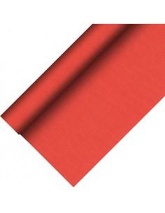 Mantel papel aspecto tela color rojo Royal Collection Plus 20 x 1,18 m