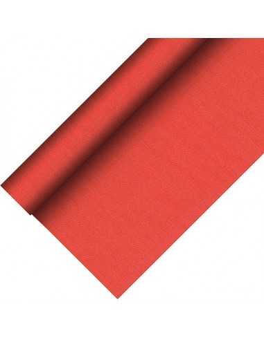 Mantel papel aspecto tela color rojo Royal Collection Plus 20 x 1,18 m