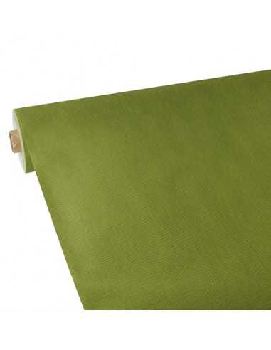 Mantel papel aspecto tela verde oliva Soft Selection Plus 25 x 1,18 m
