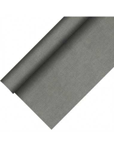 Mantel papel aspecto tela color gris Royal Collection Plus 20 x 1,18 m