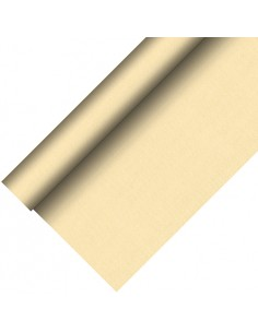 Mantel papel aspecto tela color champan Royal Collection Plus 20 x 1,18 m
