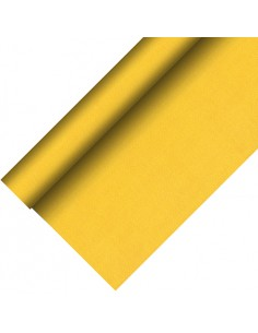 Mantel aspecto tela color amarillo Royal Collection Plus 20 x 1,18 m