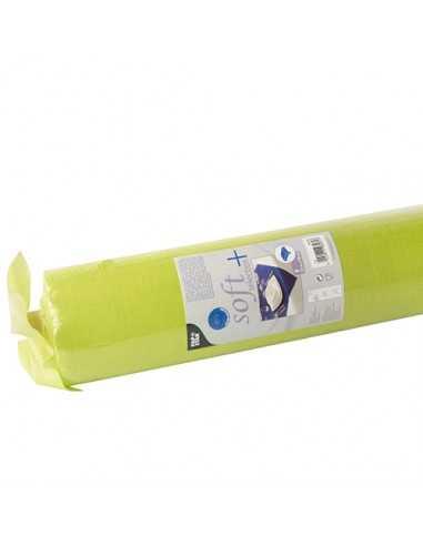 Mantel papel aspecto tela verde lima Soft Selection Plus 25 x 1,18 m