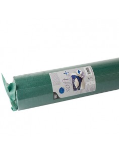 Mantel papel aspecto tela verde oscuro Soft Selection Plus 25 x 1,18 m