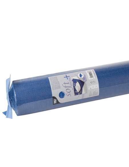 Mantel Aspecto Tela Tejido sin Tejer Soft Selection Plus Azul Oscuro 25 x 1,18 m