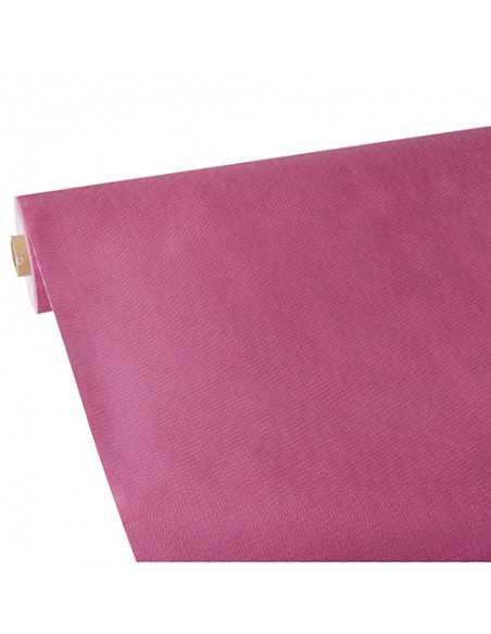 Mantel papel aspecto tela rosa fucsia Soft Selection Plus 25 x 1,18 m