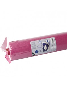 Mantel papel aspecto tela rosa fucsia Soft Selection Plus 25 x 1,18 m