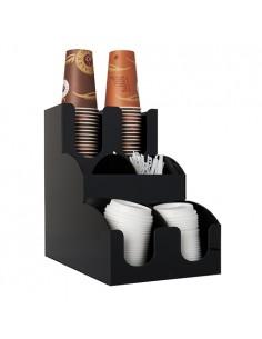 Mueble Plástico Organizador Vasos Tapas y Removedores To Go