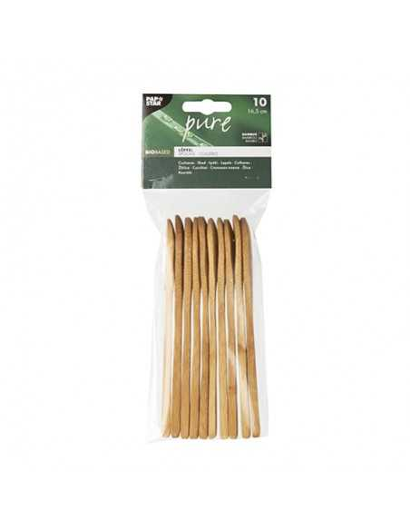 Cucharas madera de bambú Pure 16,5cm