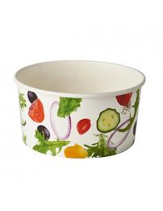 Envases para ensaladas cartón impreso Ø 15 cm 1000 ml