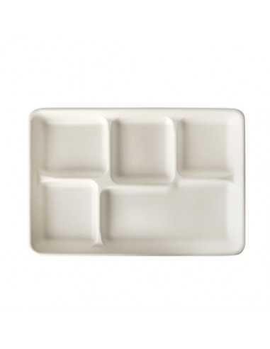 Bandejas servicio con compartimentos caña azúcar Pure