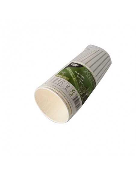 Vasos cartón especiales Gin Tonic blanco plata 400ml