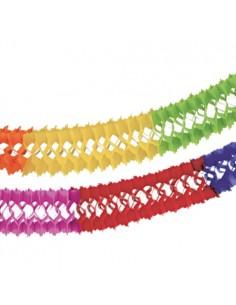 Guirnalda papel colores intensos decoración fiesta Ø 16 cm x 4 m
