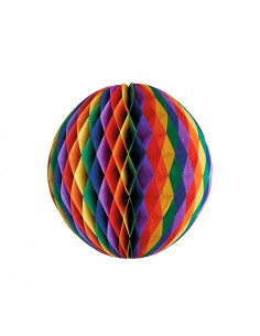 Bola decorativa verbenas papel colores Ø 60cm Rainbow