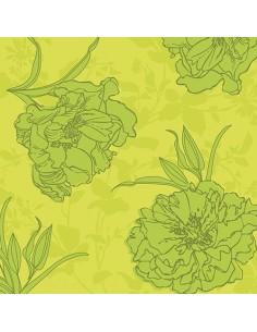 Servilletas de papel decoradas color verde Royal Collection 40 x 40 cm Thalia
