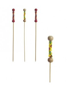 Palillos Pincho Madera de Bambú 7,5 cm México Papstar Retail 19807