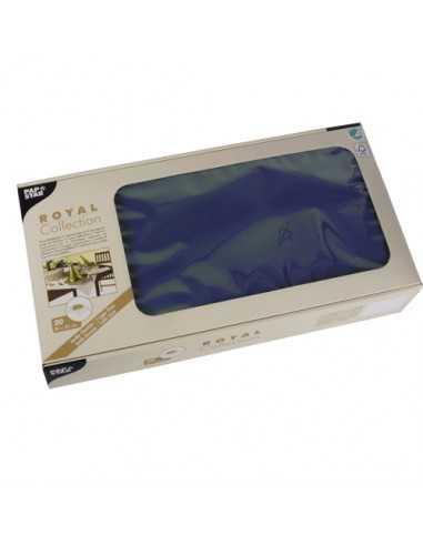 Manteles individuales de papel color azul oscuro Royal Collection 80 x 80 cm